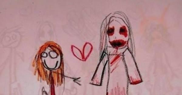 600x315 20 Creepy Kid Drawings That Make You Wonder What Demons Possess