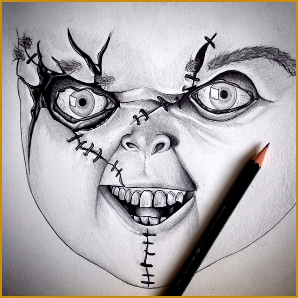 595x595 7 Scary Drawing Ideas Fabtemplatez