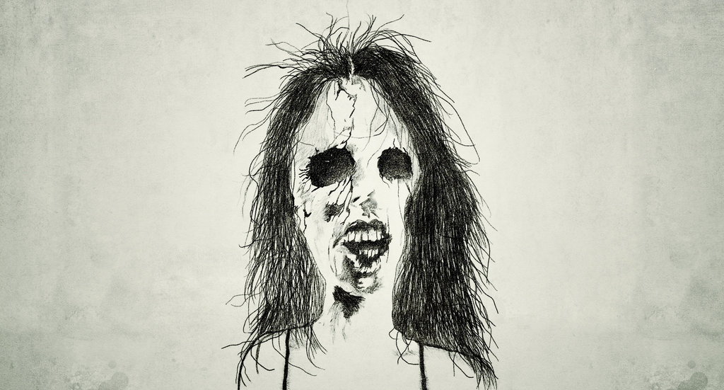 1024x551 Scary Stories Drawing By Trickytreater