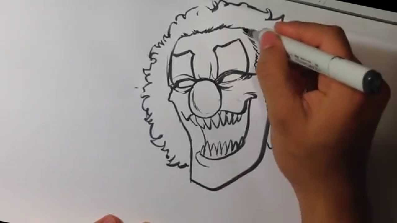 1280x720 Drawing A Scary Clown