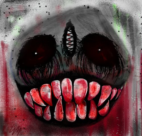 500x480 Scary Drawings