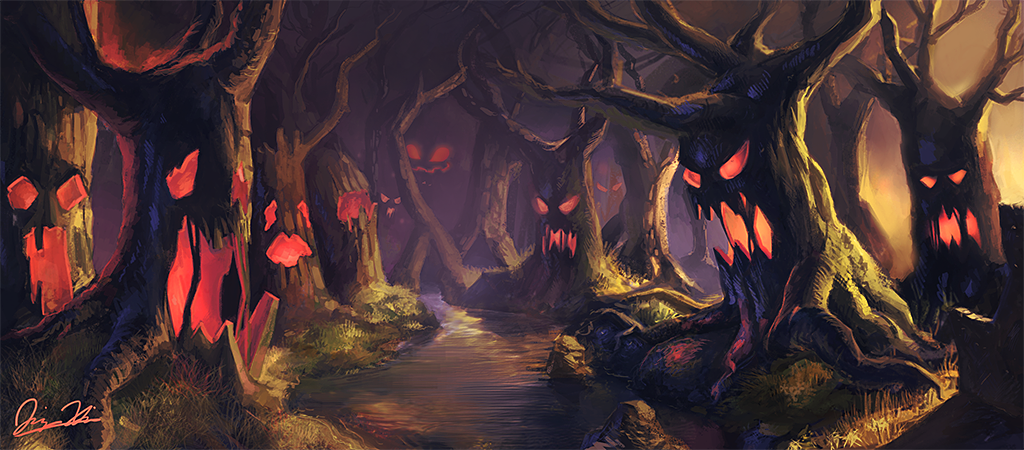 Scary Forest Drawing At Getdrawings Com Free For Personal