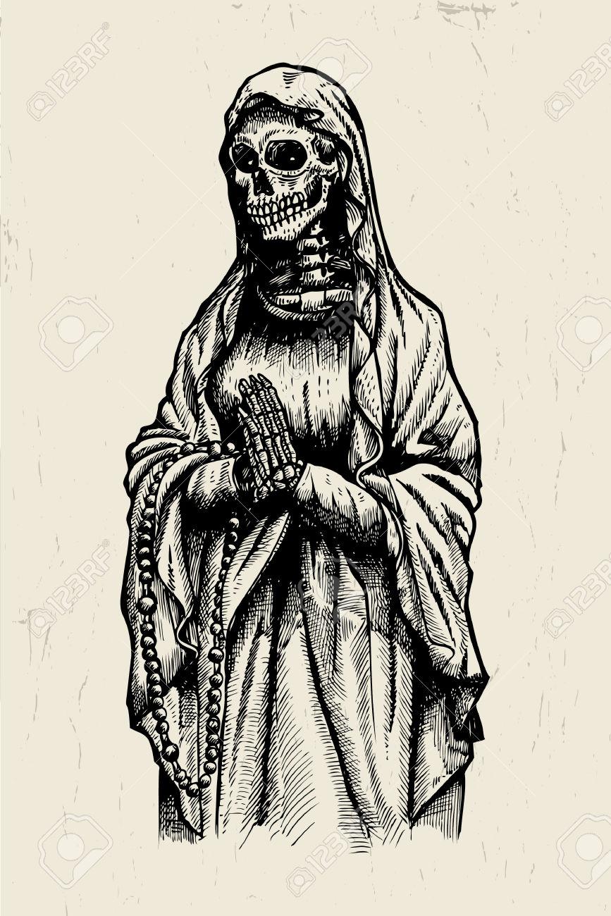867x1300 Drawn Skeleton Abstract
