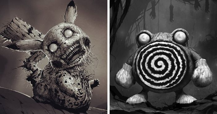 700x368 This Artist Reimagined Characters As Monsters,