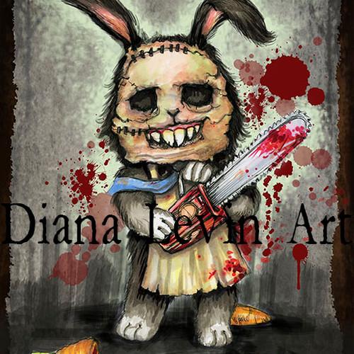500x500 Creepy Cute Art Ghoulish Bunny Studios