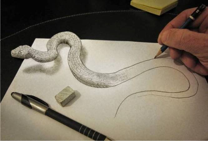 666x451 Mind Blowing Optical Illusions Birth To Snake Optical Illusion