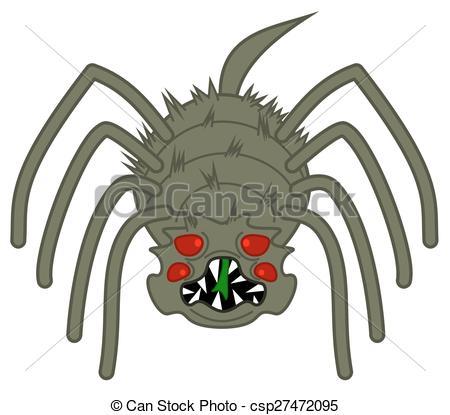 450x415 A Horrible, Big Scary Spider Eps Vectors