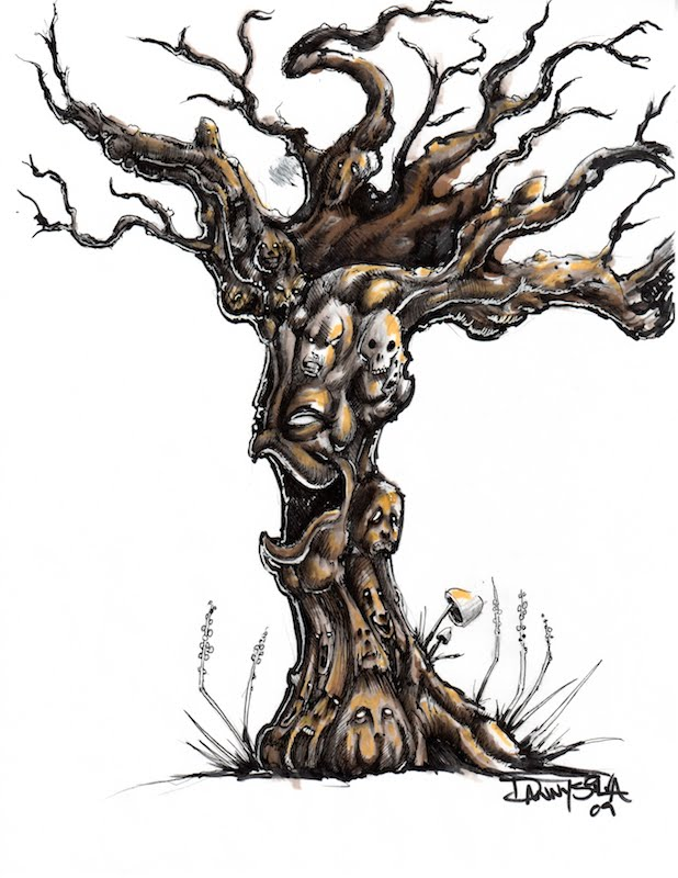 scary tree drawing at getdrawingscom free for personal