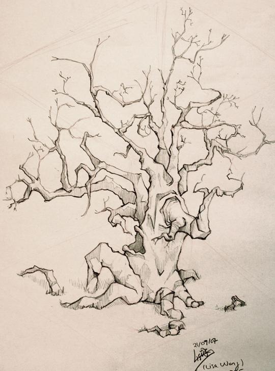540x728 Scary Tree By Dragenki