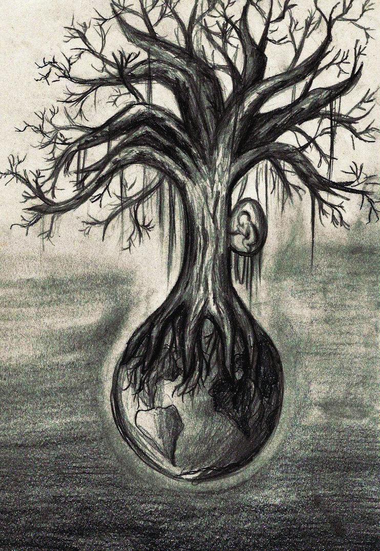 742x1077 Scary Tree By Minnimi