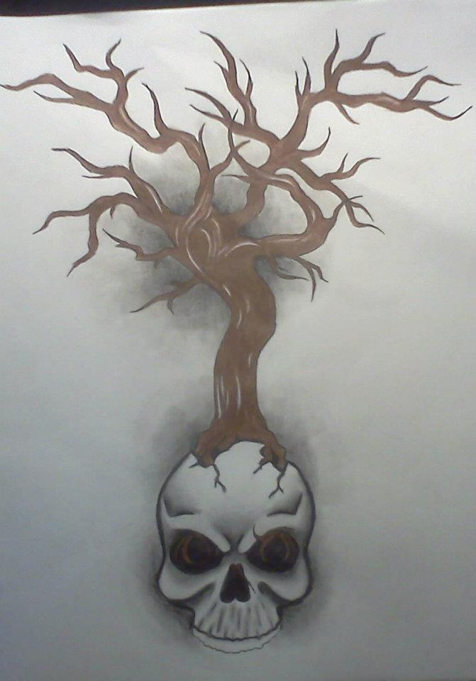 671x960 Spooky Tree Of Life By Anythingbutthat