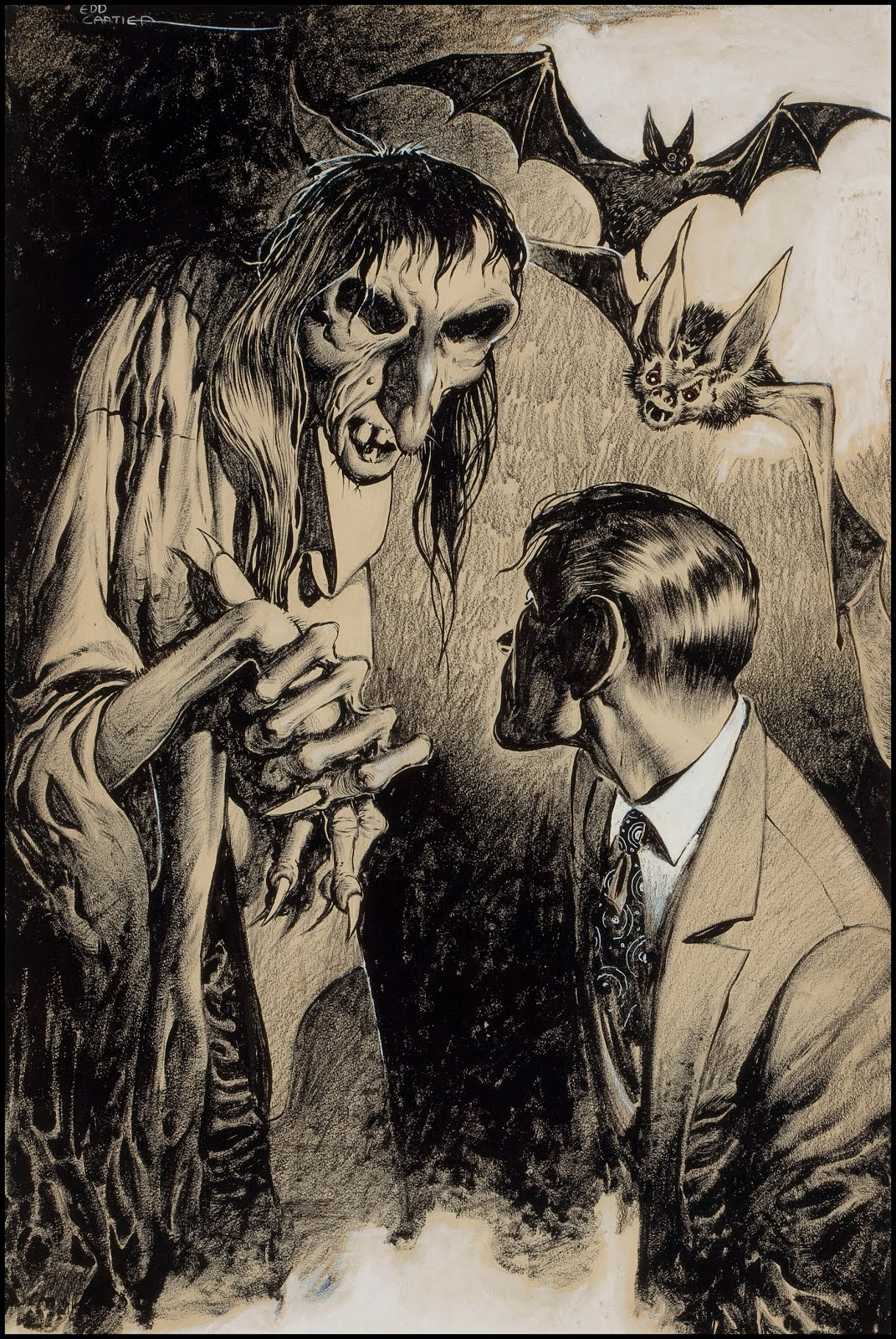 1071x1600 Fantasy Ink Creepy Witch! A Pulp Illustration By Ed Cartier, No