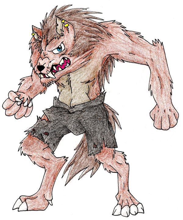 600x722 Big Scary Wolf Man By Shikathefox