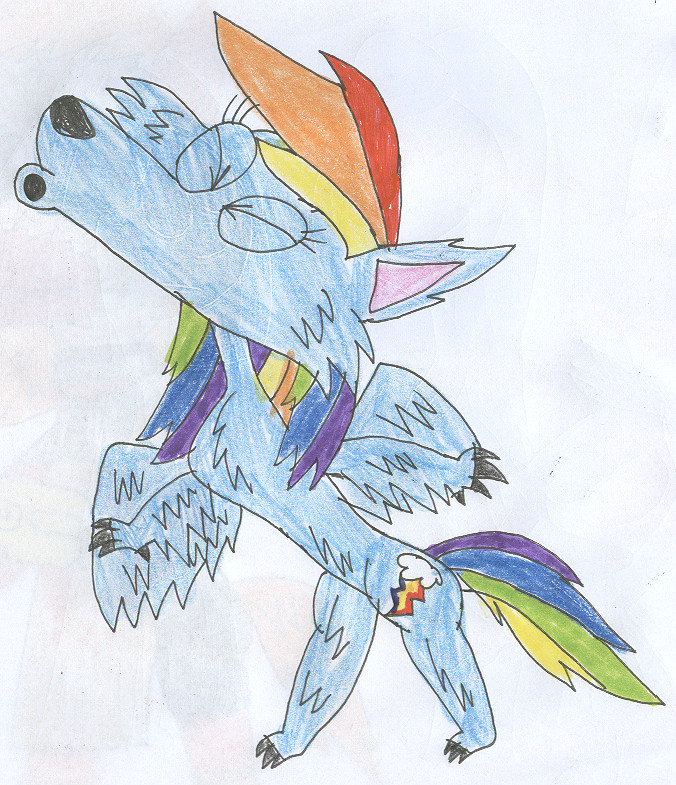 676x785 Scary Pony Tales The Rainbow Wolf By Sithvampiremaster27