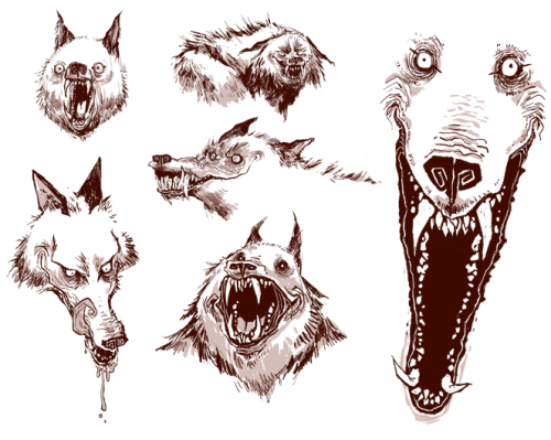 500x399 Scary Dog Evil Wolf Design Creepy Creatures Wolf