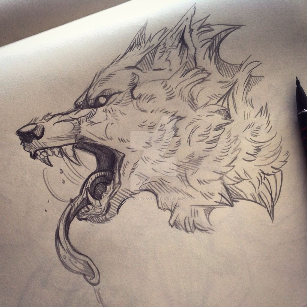 Scary Wolf Drawing At Getdrawings Com Free For Personal Use Scary