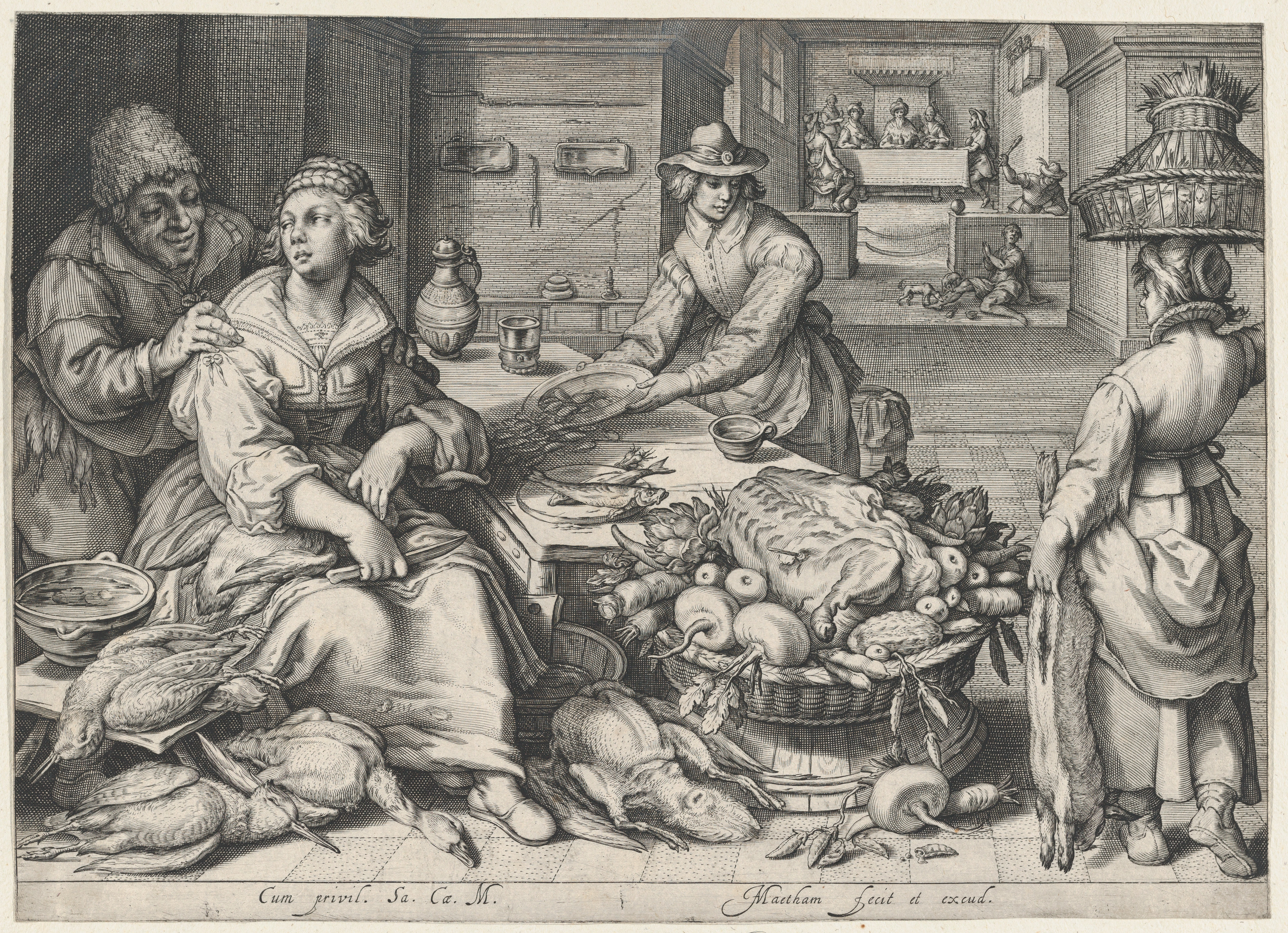 3597x2606 Filekitchen Scene With A Maid Drawing Poultry, Parable