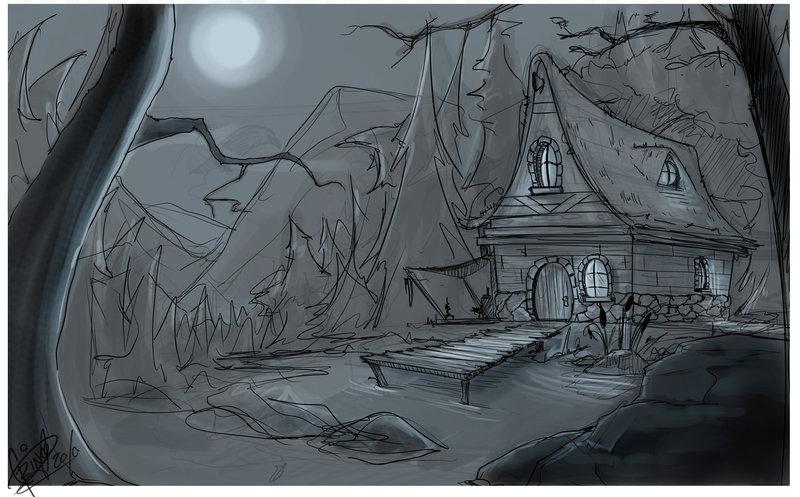 800x497 Scene Sketch By Shye6686