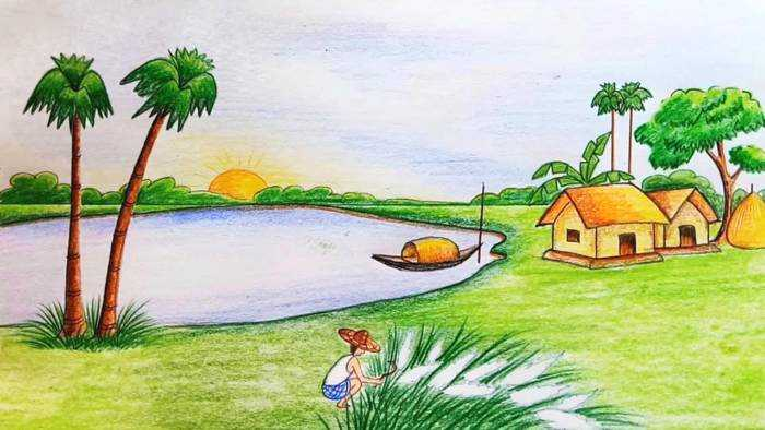 700x394 Amazing Drawing Cartoon Scenery Wonderful Design