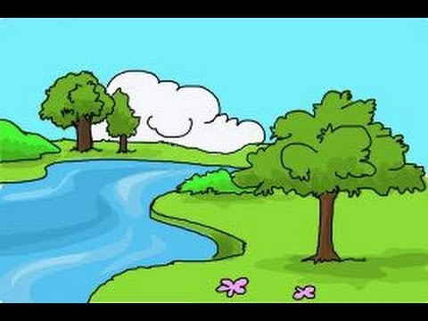 480x360 How To Draw Nature Scenery