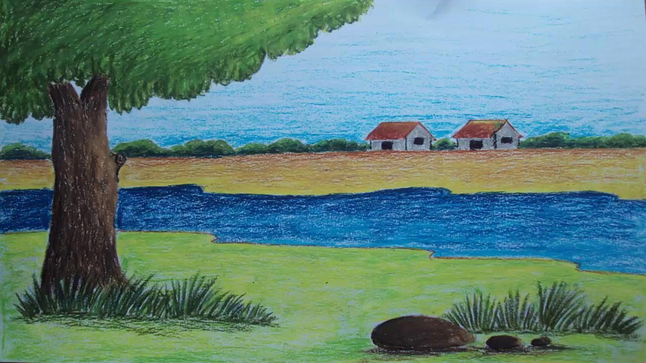 Scenery Drawing For Class 1 At Getdrawings Com Free For Personal