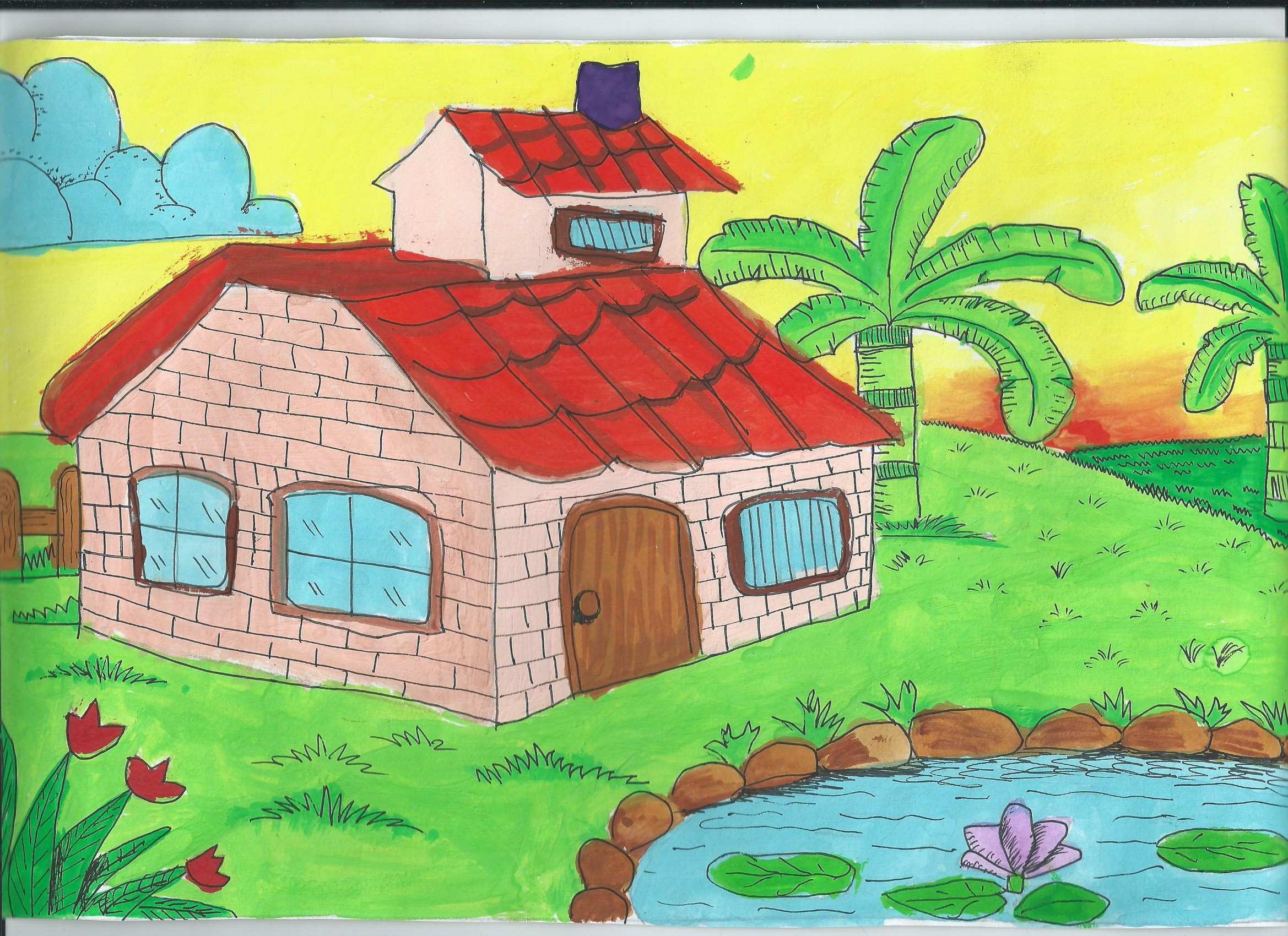 2338x1700 Pictures Scenery Drawing For Class 4,
