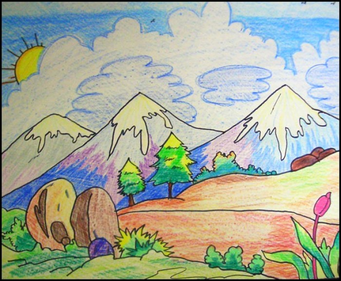 700x578 Best Scenery Of Drawing Ideas For Kids