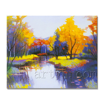 350x350 Newest Handmade Beautiful Scenery Drawing Painting