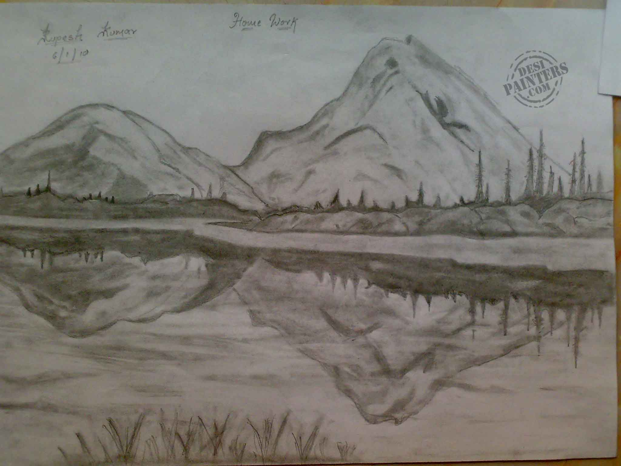 2048x1536 Beautiful Pencil Sketches Of Scenery Pencil Drawings Of Fall