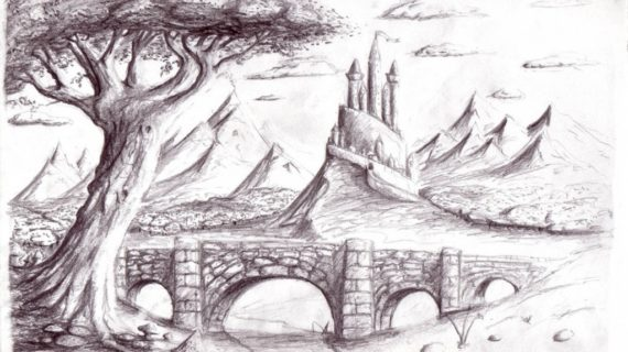 570x320 pencil drawing scenery how to draw a simple scenery pencil drawing