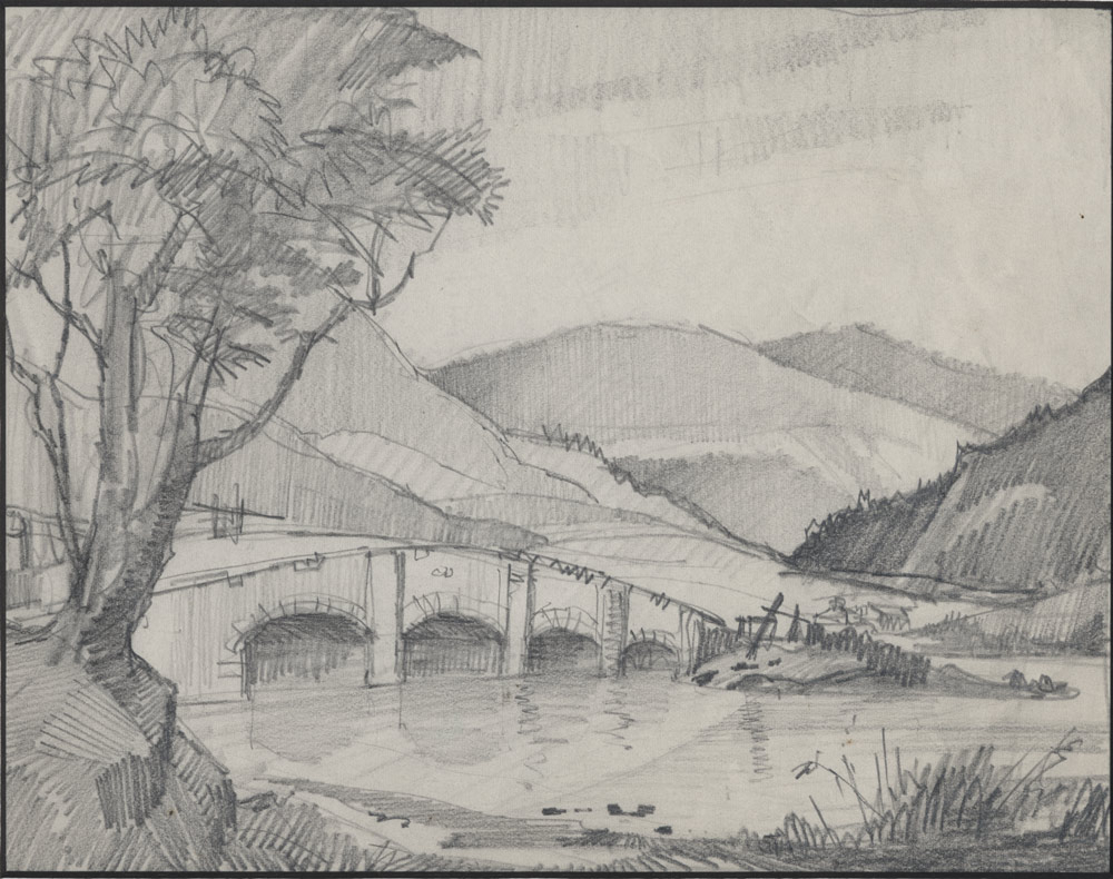 1000x790 Scenery Sketch Pencil Sketch Very Easy And Beautiful Scenery