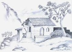 236x171 House Sketches Pencil Sketches Of Nature Scenery Blanks