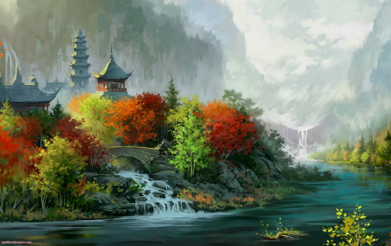 1280x804 China Scenic Drawing Wallpapers China Scenic Drawing Stock Photos