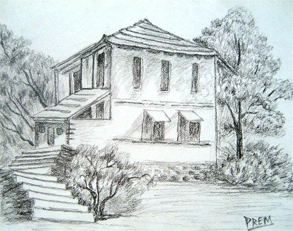 600x474 Easy Landscape Drawing Drawn Scenic Drawing 4 Easy Landscape