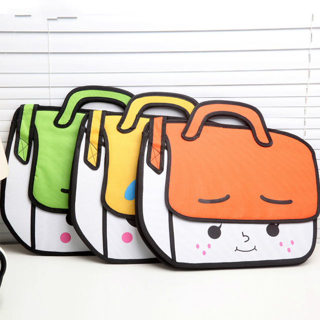 640x640 2017 Fashion 2d Cute Bags Novelty School Bag 3d Drawing Cartoon