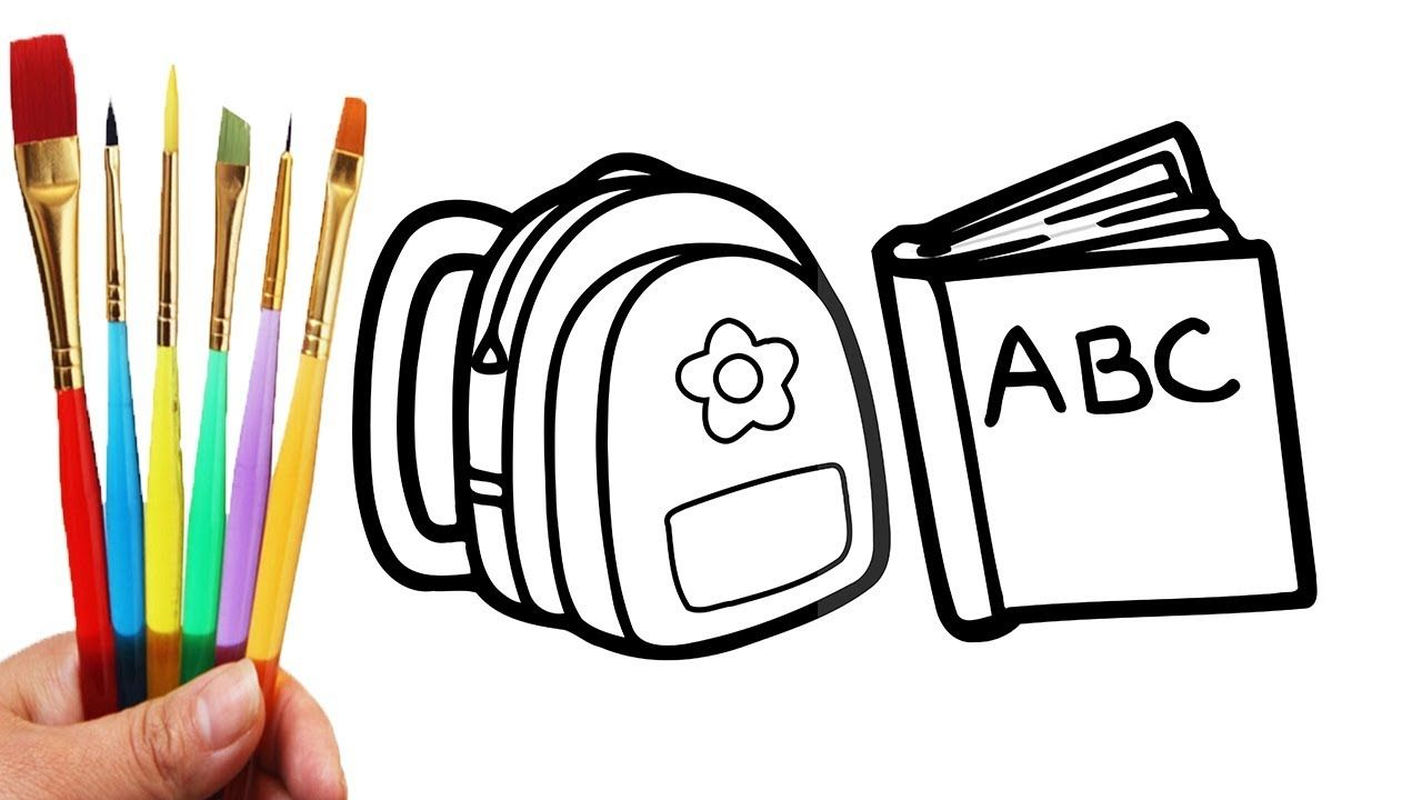 1280x720 How To Draw School Bag For Boys And Girls