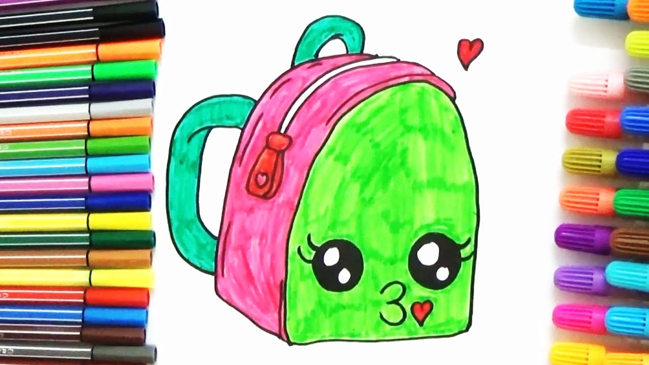 1280x720 How To Draw A Cute School Bag