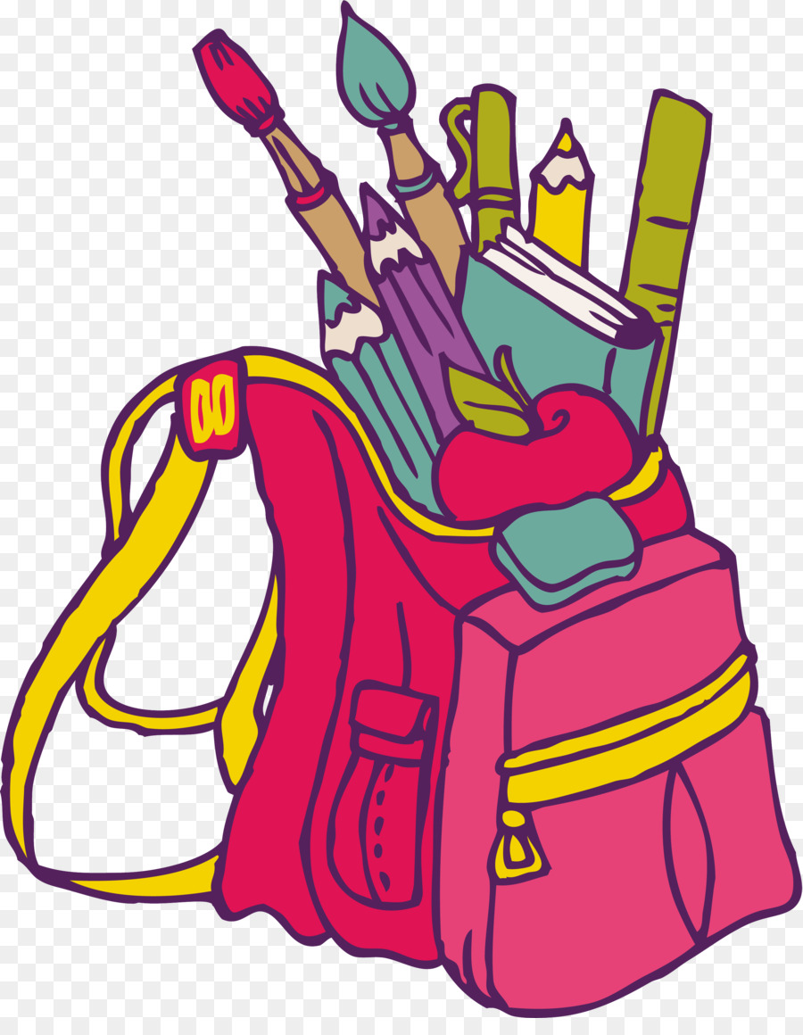 900x1160 School Bag Student Drawing