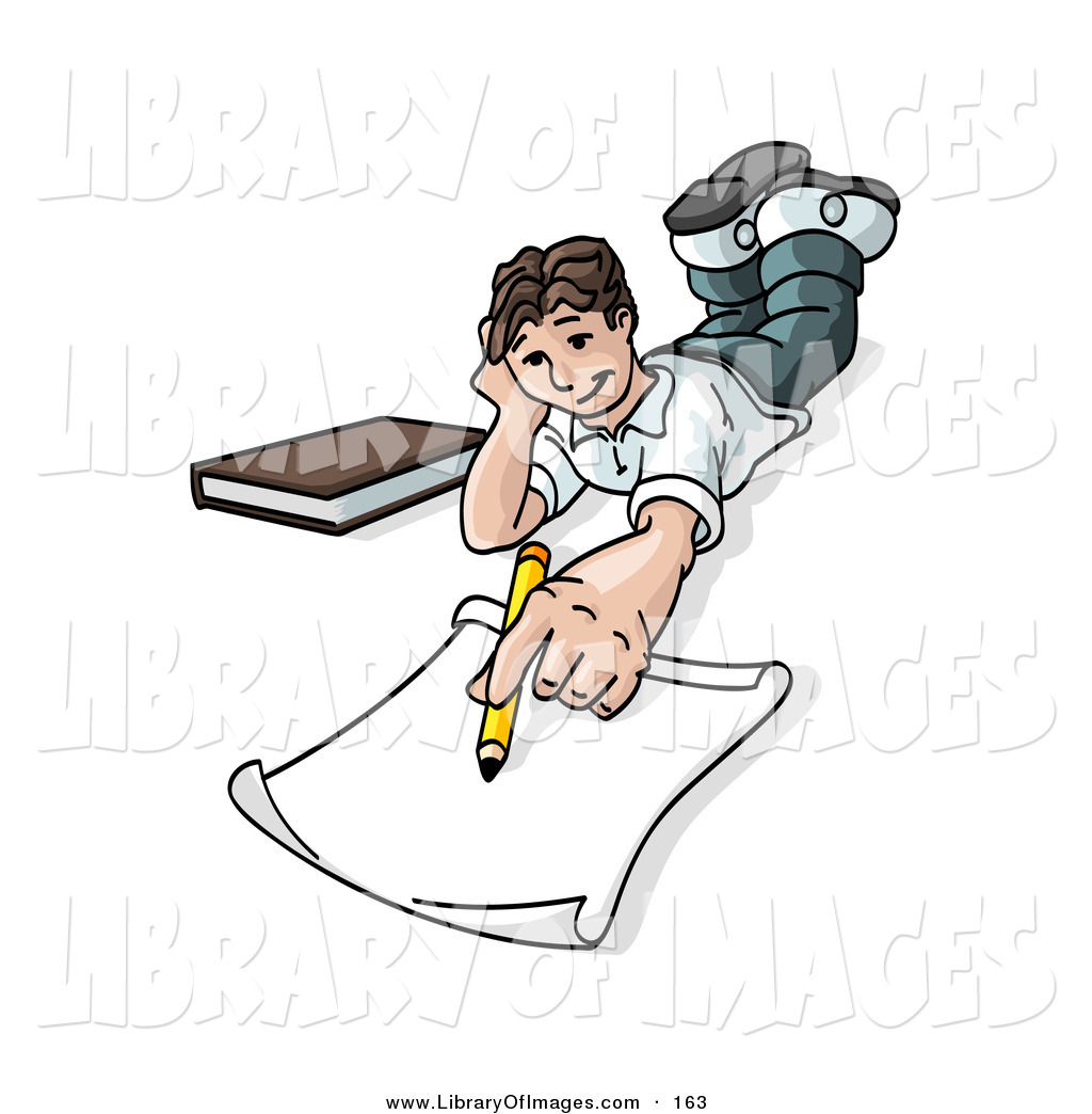 1024x1044 Clip Art Of A White Elementary School Boy Lying On His Stomach