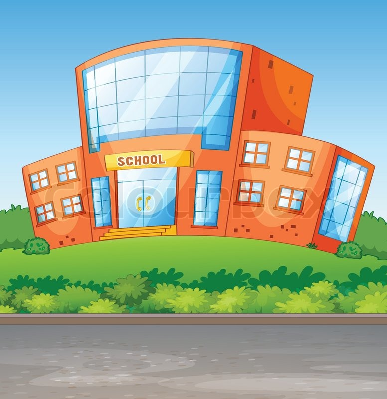 776x800 A School Building Stock Vector Colourbox