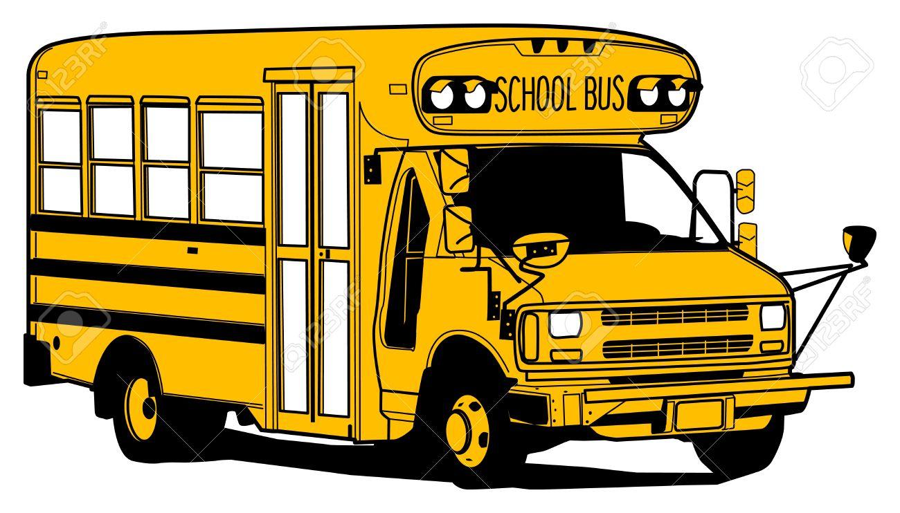 1300x742 Drawing Of A School Bus School Bus Drawings Cartoons Old School