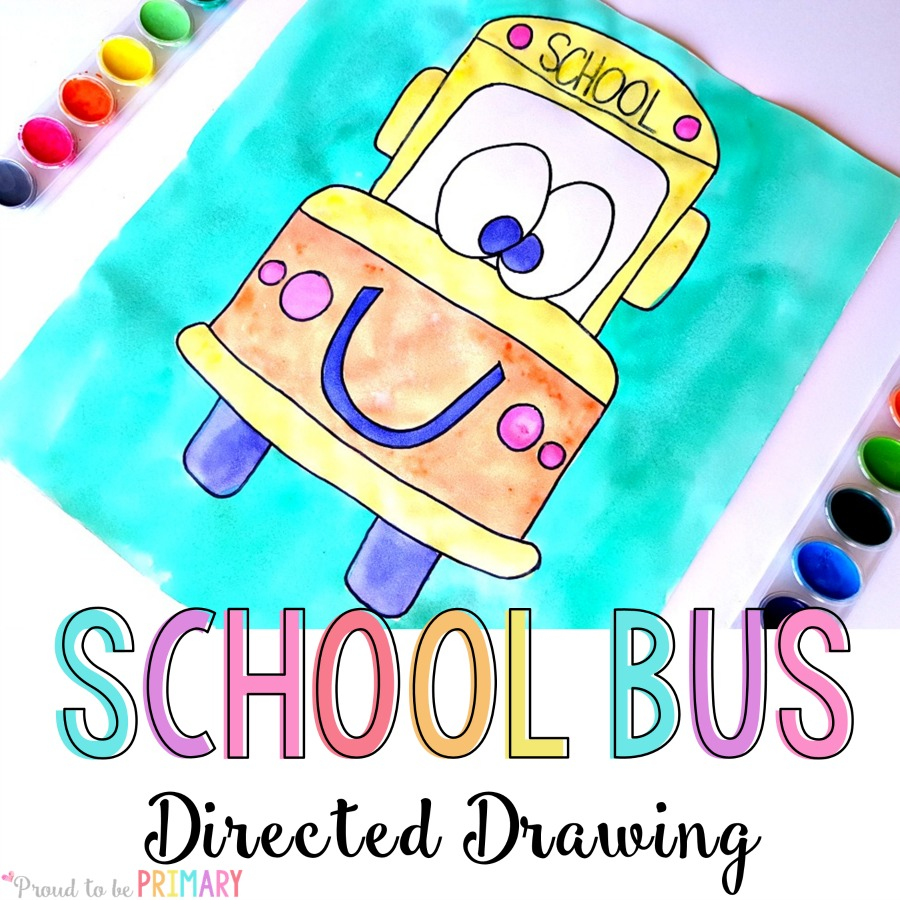 900x900 Back To School Bus Directed Drawing