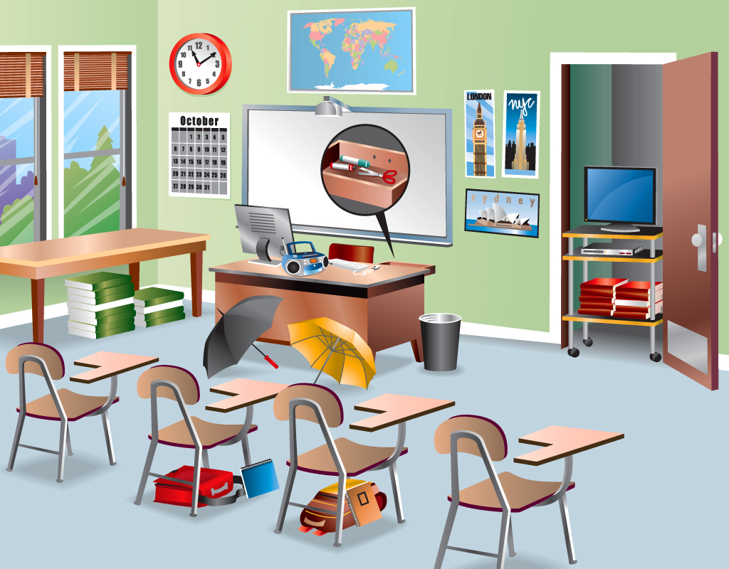 Classroom Furniture Dwg ~ School classroom drawing at getdrawings free for