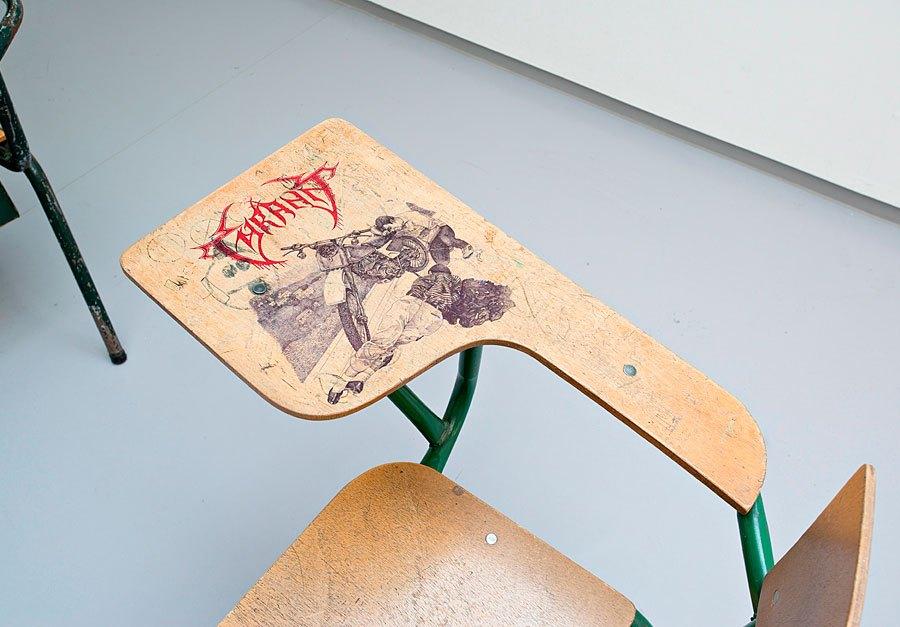 900x627 Black Metal School Desk Drawings Now Considered Art