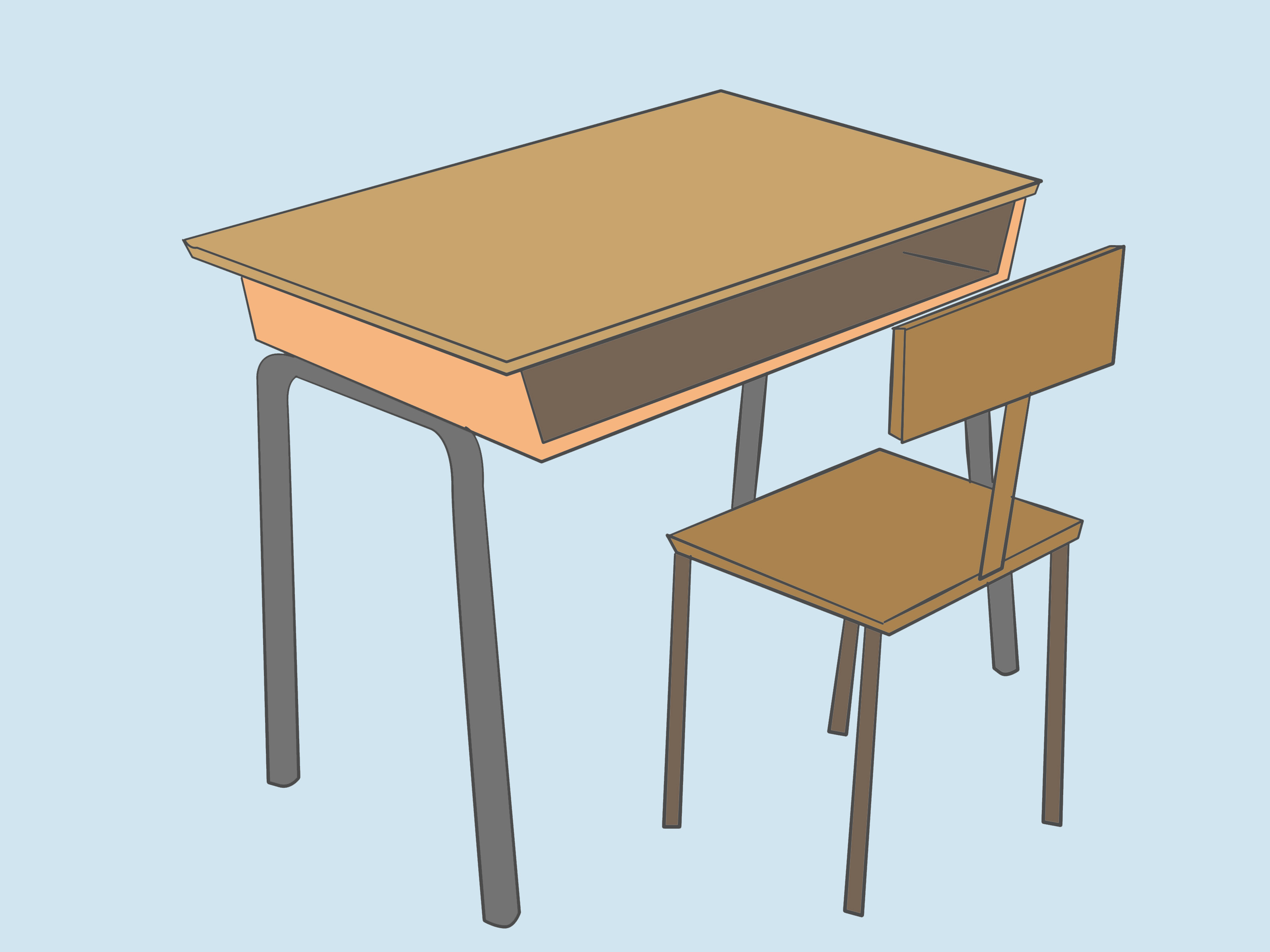 school desk drawing at getdrawings com free for personal use rh getdrawings com school desk chair clipart Teacher Desk Clip Art