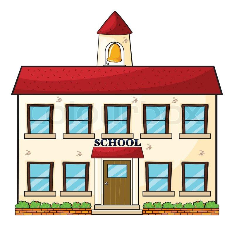 800x772 A School Building Stock Vector Colourbox