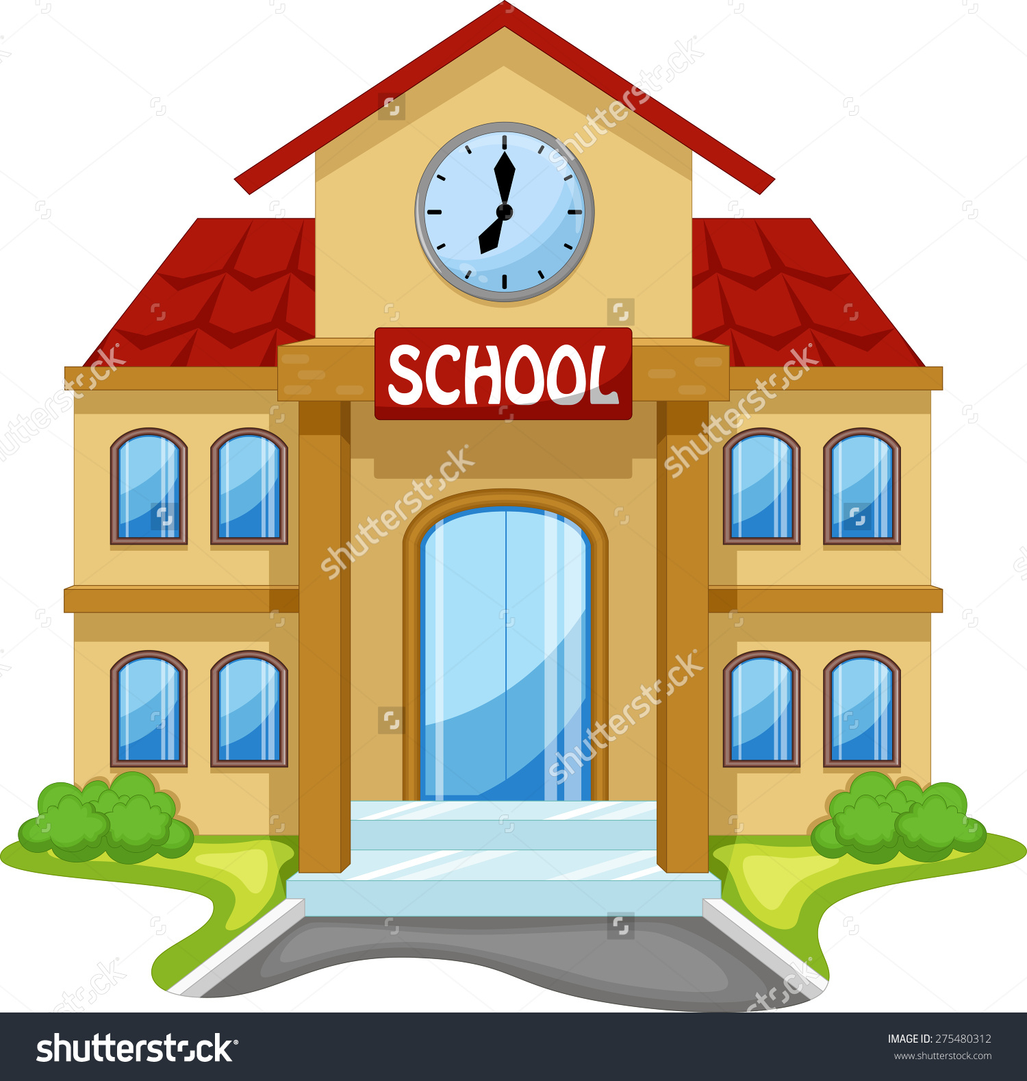 1500x1578 Cartoon Drawing Of A School Cartoon Drawing Of A School