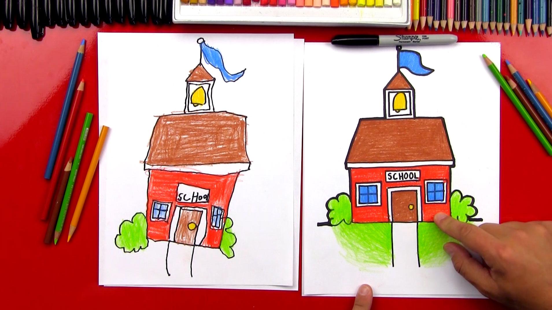 1909x1071 How To Draw A Cartoon School