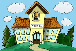 300x200 How To Draw A School