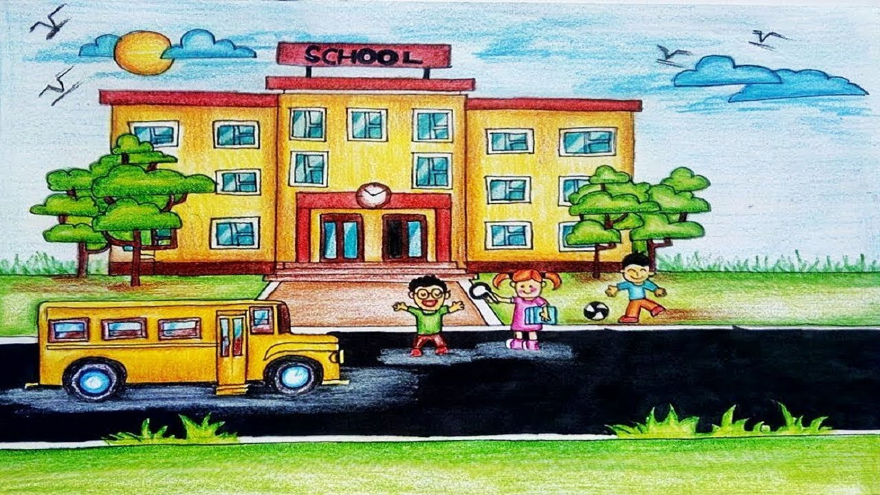 1280x720 School Drawing
